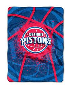 Detroit Pistons Shadow Play Super Plush Raschel Throw