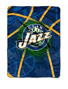 Utah Jazz Shadow Play Super Plush Raschel Throw