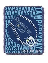 Tampa Bay Rays Woven Jacquard Throw