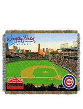 Chicago Cubs Home Field Advantage Woven Tapestry Throw