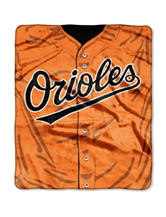 Baltimore Orioles Super Plush Raschel Throw