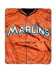 Miami Marlins Super Plush Raschel Throw