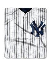 New York Yankees Super Plush Raschel Throw
