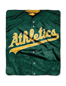 Oakland Athletics Super Plush Raschel Throw