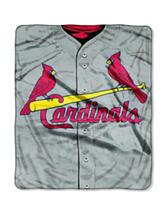 St. Louis Cardinals Super Plush Raschel Throw