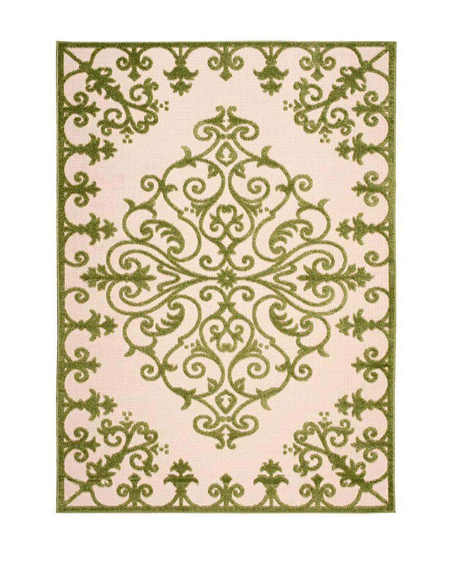 Nourison Green Outdoor Rugs & Doormats Outdoor Decor