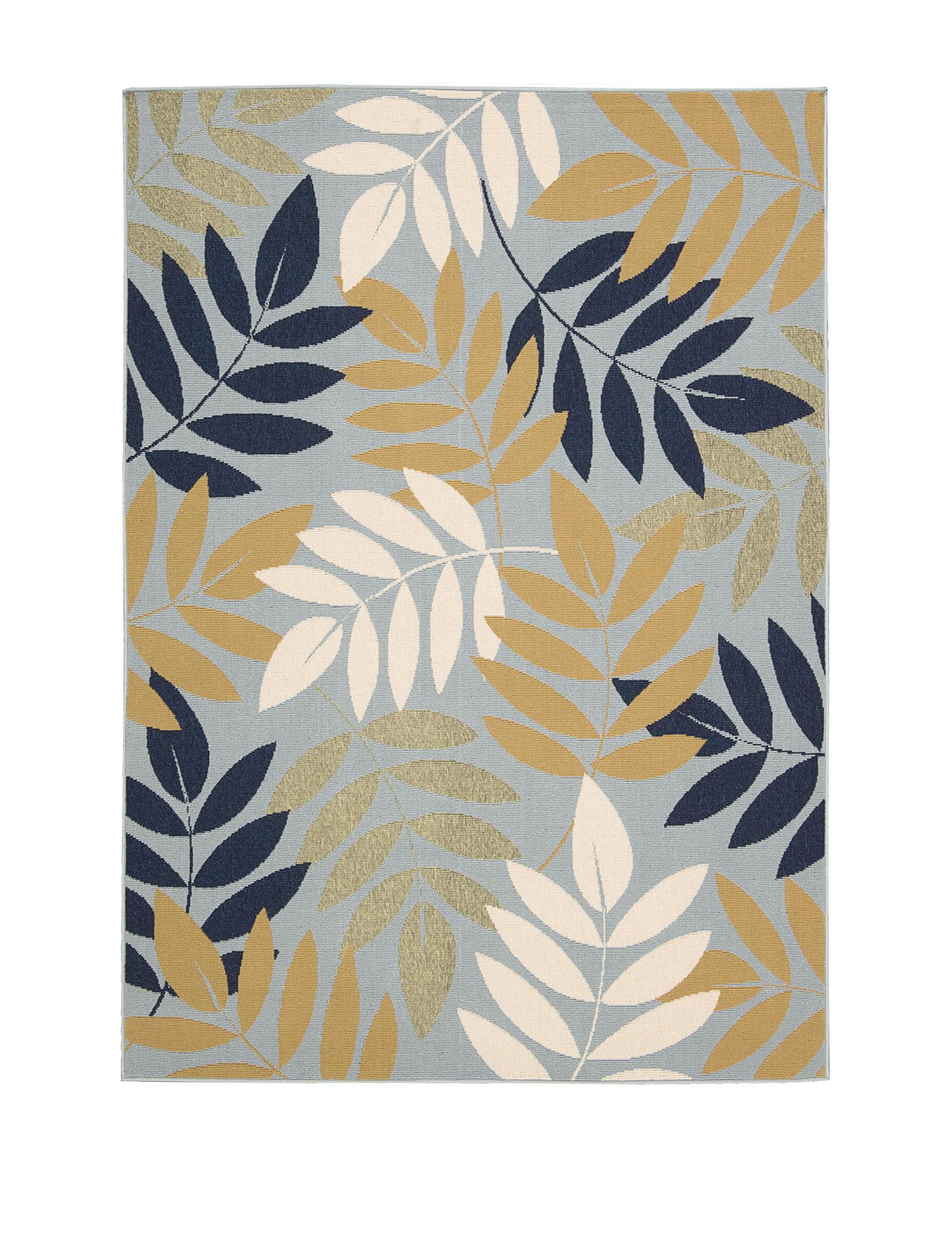 Nourison Blue Outdoor Rugs & Doormats Outdoor Decor