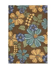 Nourison South Beach Chocolate Floral Print Rug