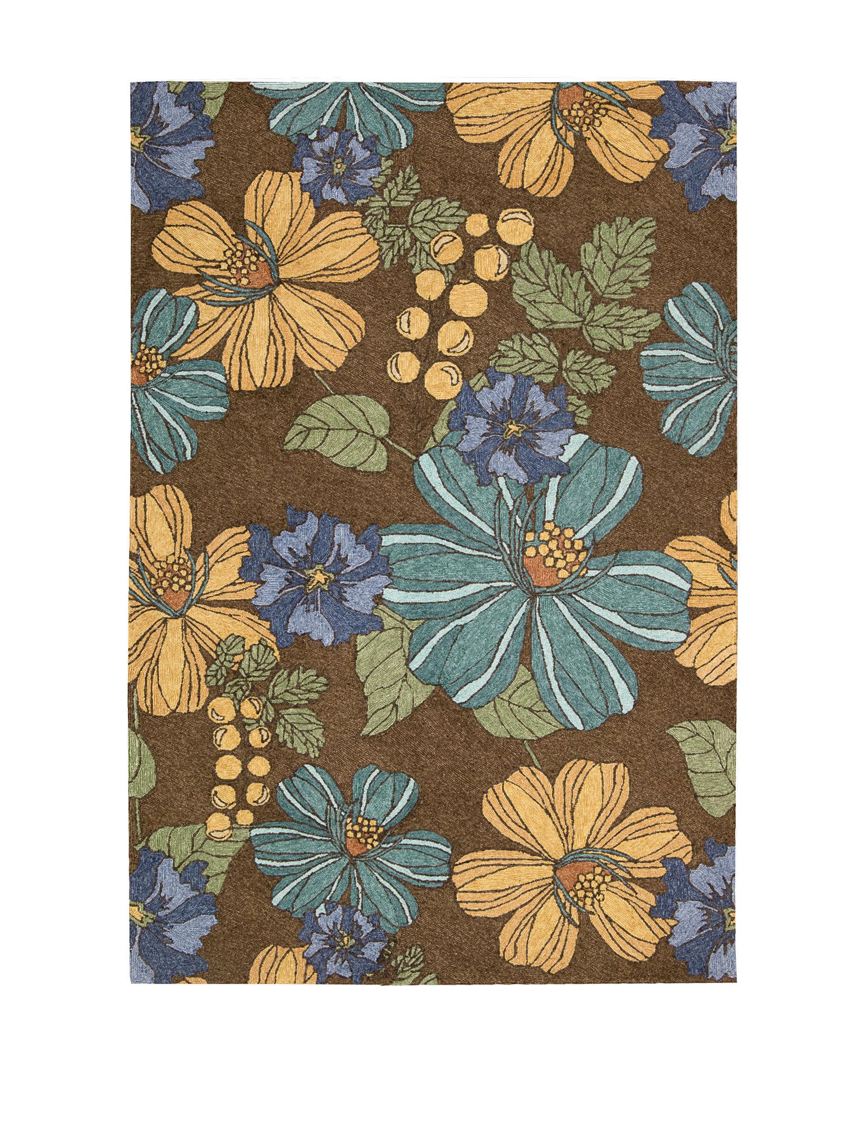 Nourison Chocolate Outdoor Rugs & Doormats Outdoor Decor
