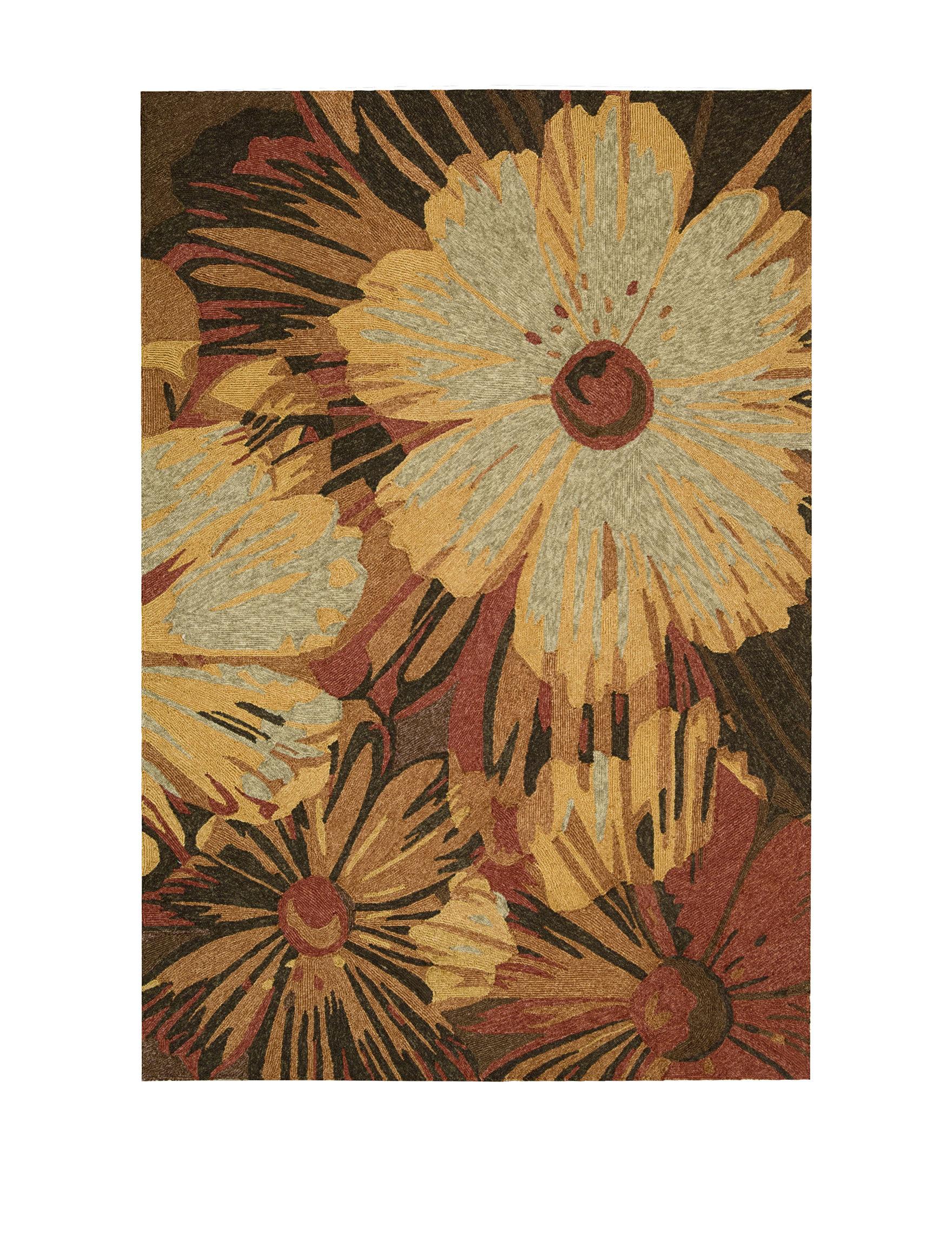 Nourison Orange Outdoor Rugs & Doormats Outdoor Decor