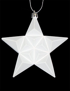 Christmas Central 12-pc. Matte Winter White Glittered Star Shatterproof Christmas Ornaments