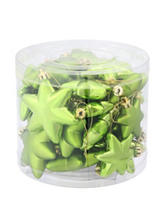 Christmas Central 36-pc. Matte Green Kiwi Star Shatterproof Christmas Ornaments