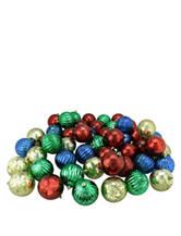Christmas Central 50-pc. Multicolor Shatterproof Mercury Ball Christmas Ornaments