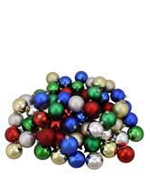 Christmas Central 60-pc. Multicolor Matte Shatterproof Christmas Ornaments
