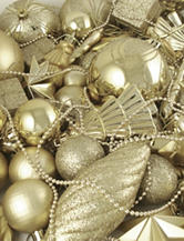 Christmas Central 125-pc. Champagne Gold Shatterproof Christmas Ornaments