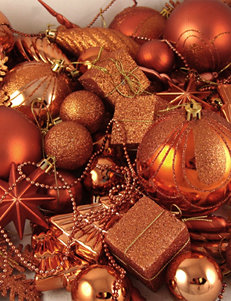 Christmas Central 125-pc. Burnt Orange Shatterproof Christmas Ornaments
