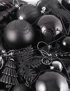 Christmas Central Black Ornaments Holiday Decor