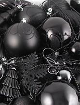 Christmas Central 125-pc. Jet Black Shatterproof Christmas Ornaments