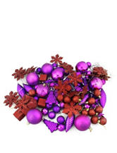 Christmas Central 125-pc. Purple Passion Shatterproof Christmas Ornaments
