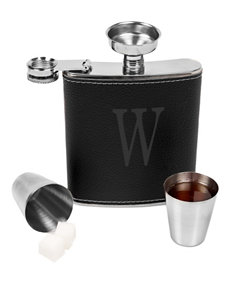 Cathy's Concepts Black Flasks Monogram Bar Accessories