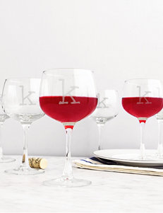 Cathy's Concepts Clear Wine Glasses Drinkware