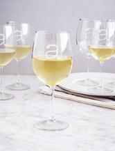 Cathy's Concepts 6-pc. Personalized 12-oz. White Wine Glasses