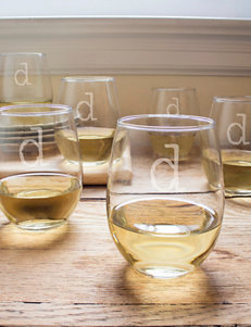 Cathy's Concepts 6-pc. Personalized 15-oz. Stemless Wine Glasses