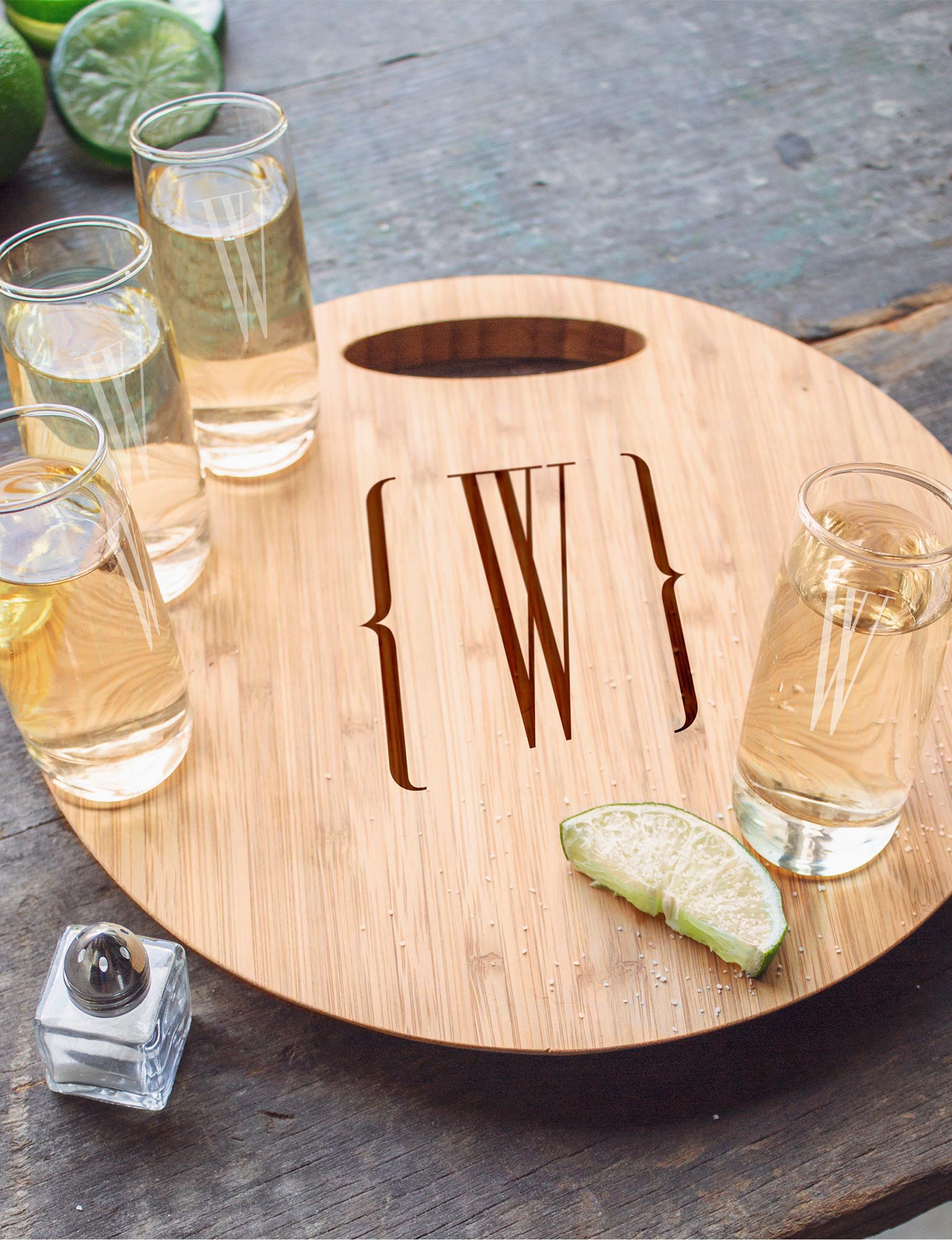 Cathy's Concepts Brown Cocktail & Liquor Glasses Monogram Drinkware