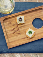 Cathy's Concepts 2-pc. Personalized Bamboo Wine & Dine Appetizer Trays