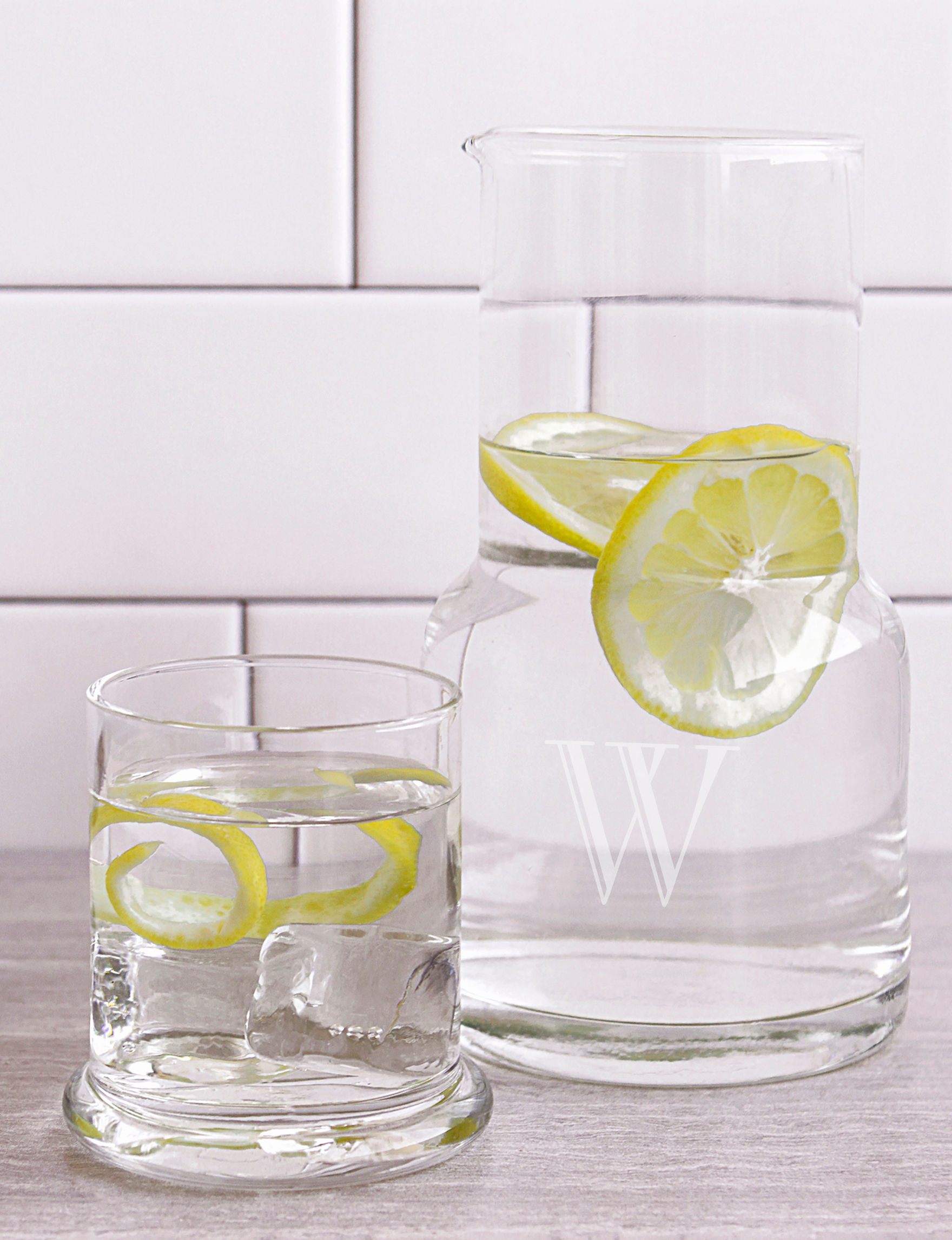 Cathy's Concepts Clear Drinkware Sets Monogram Drinkware