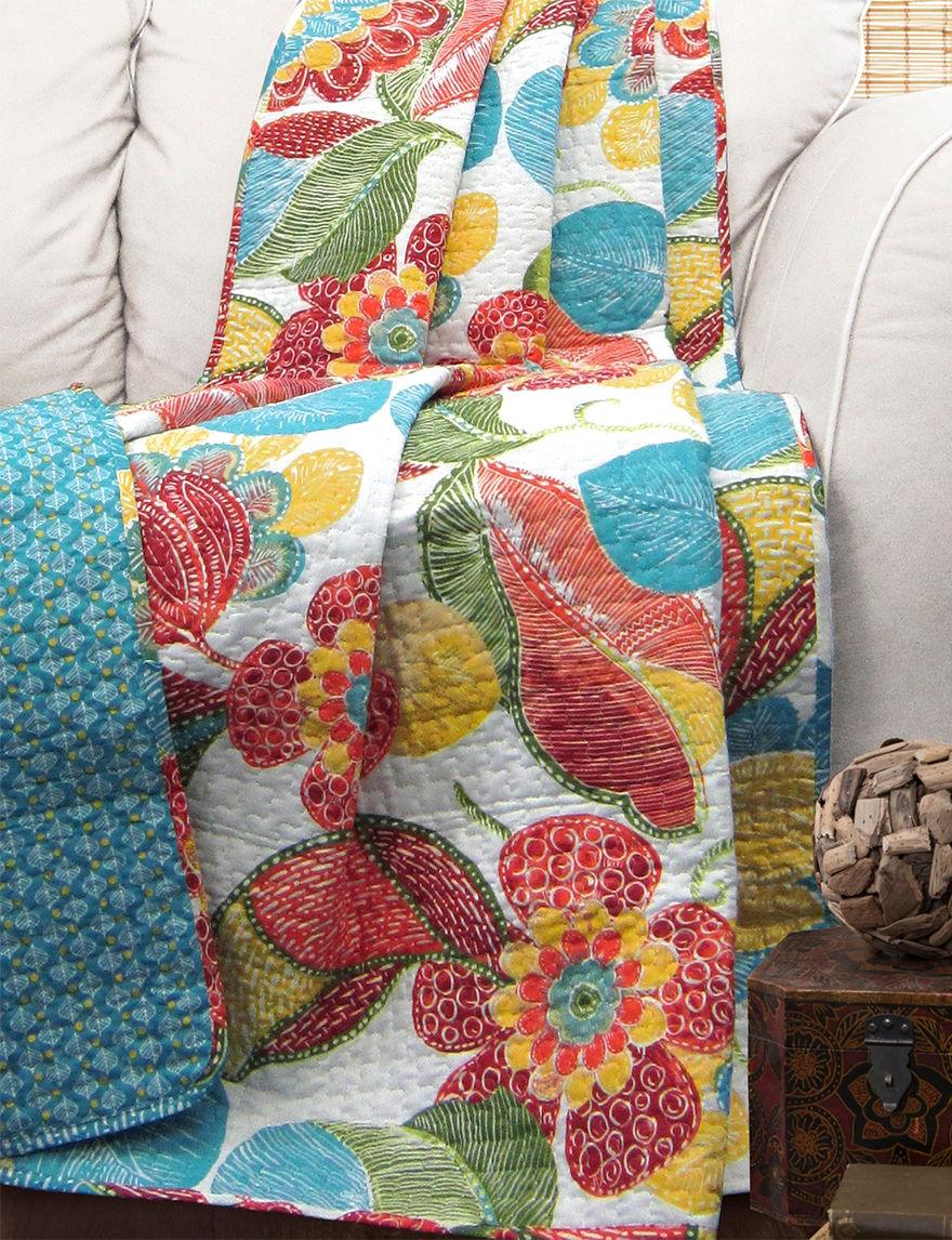 Lush Decor Orange/Blue Blankets & Throws
