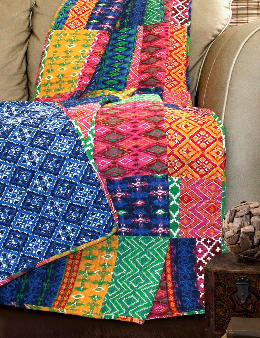 Lush Decor Fuchsia/Navy Blankets & Throws