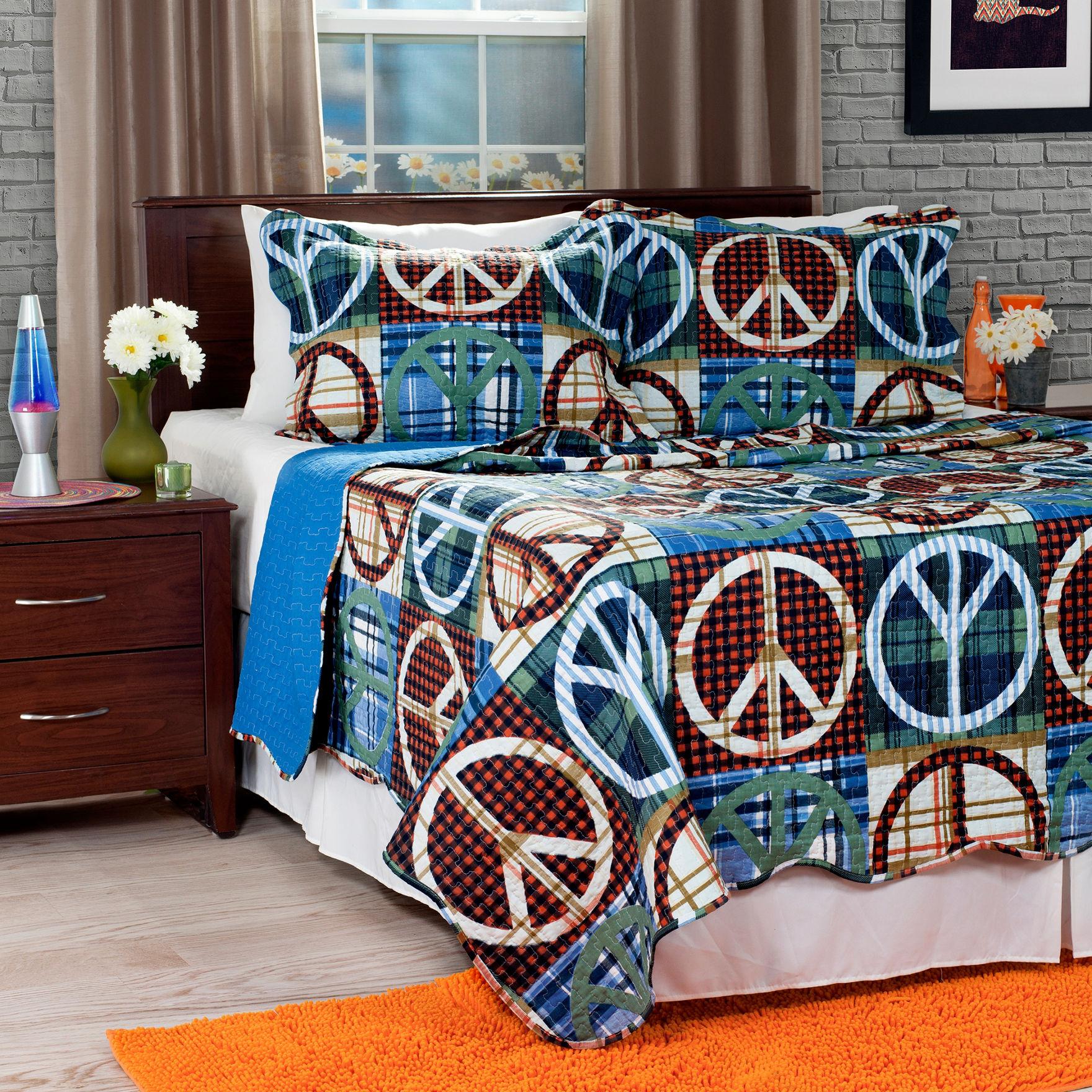 Lavish Home Brown / Blue Quilts & Quilt Sets