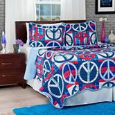 Lavish Home Blue Peace Quilt Set