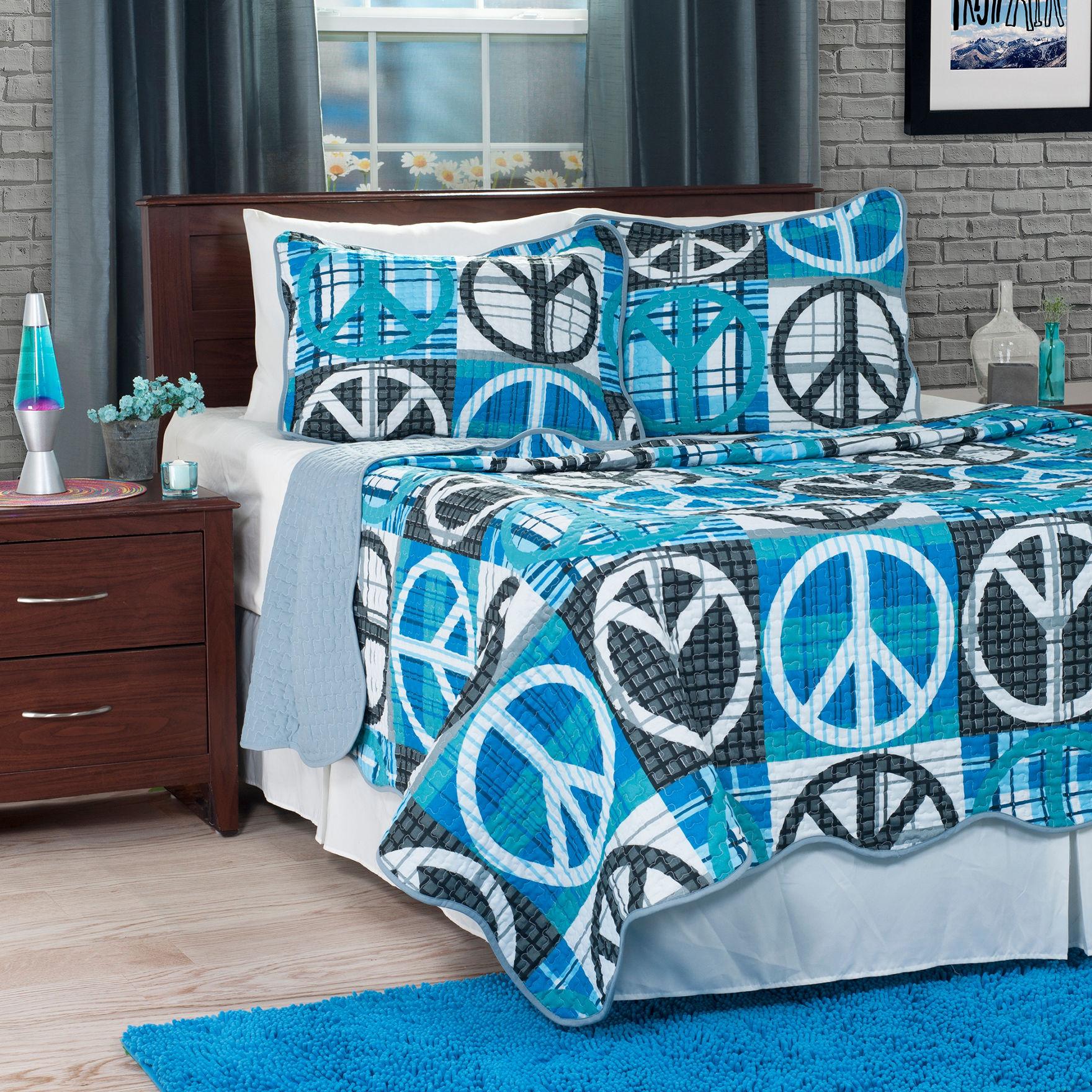 Lavish Home Grey / Blue Quilts & Quilt Sets