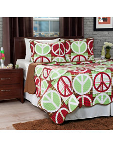 Lavish Home Brown/Red Quilts & Quilt Sets
