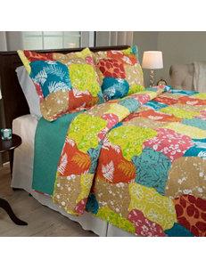 Lavish Home Beige / Blue Quilts & Quilt Sets