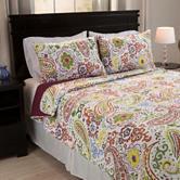 Lavish Home Trista Cotton Quilt Set