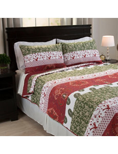 Lavish Home Burgundy/ Deep Green Quilts & Quilt Sets