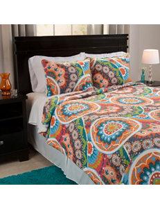 Lavish Home Orange/ Blue/ Green Quilts & Quilt Sets