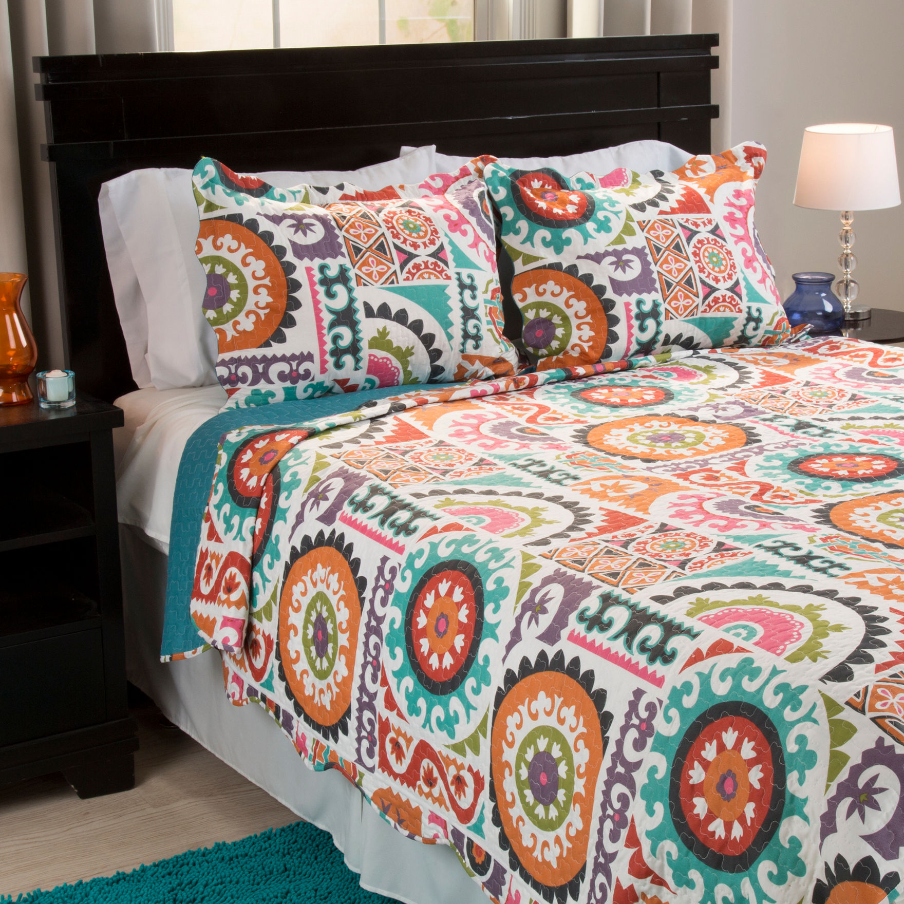 Lavish Home Orange/ Blue/ Green Quilts & Quilt Sets