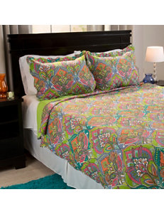 Lavish Home Lime Green/ Orange/ Pink Quilts & Quilt Sets