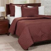 Lavish Home 3-pc. Chocolate Embossed Quilt Set
