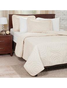 Lavish Home 3-pc. Ivory Embossed Quilt Set
