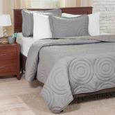 Lavish Home 3-pc. Silver Embossed Quilt Set