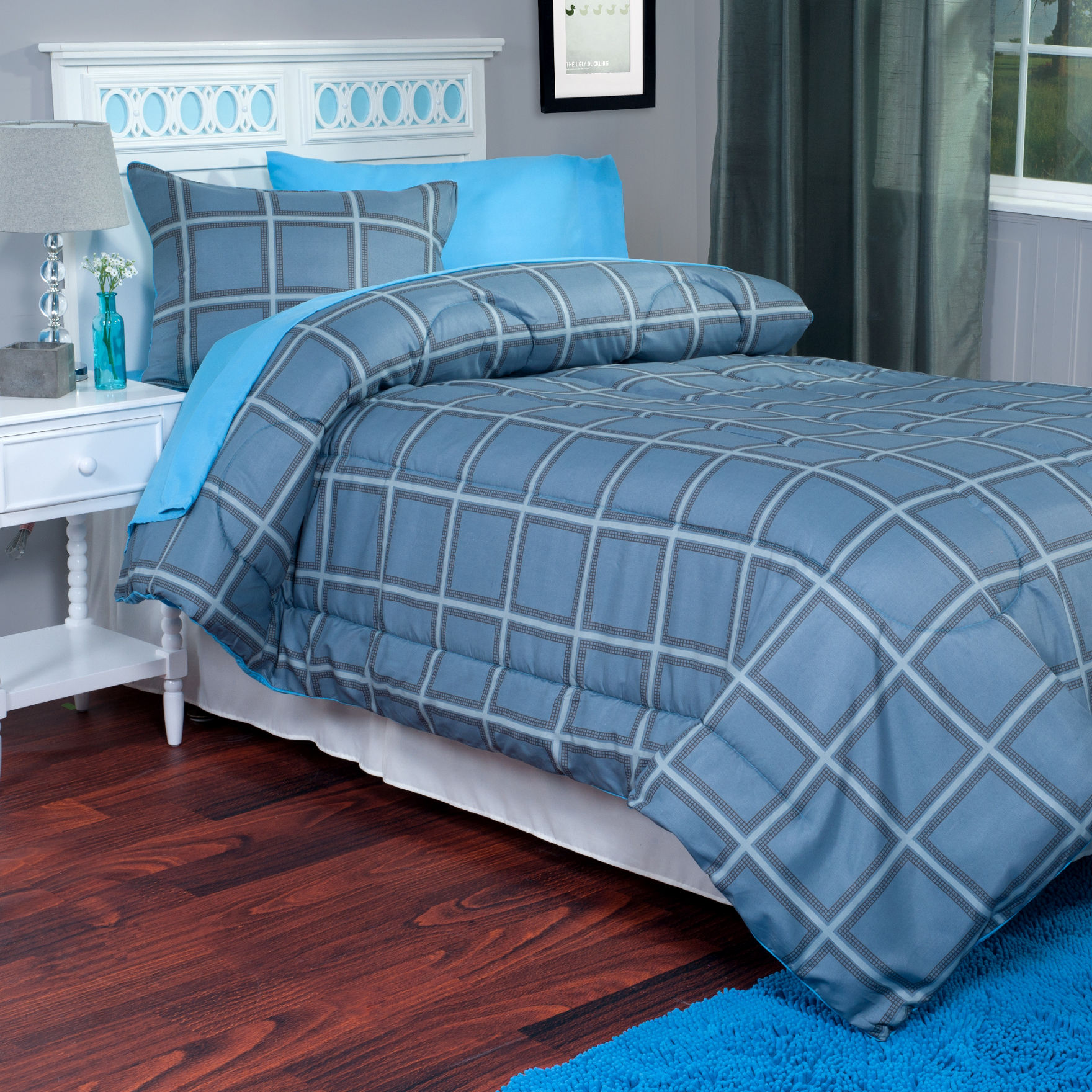 Lavish Home Blue / Grey Comforters & Comforter Sets