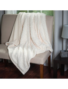 Lavish Home White Blankets & Throws