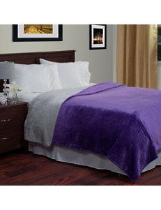Lavish Home Purple / Grey Blankets & Throws