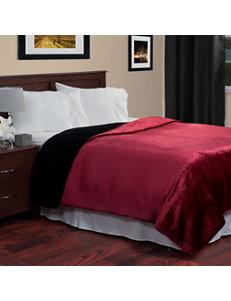 Lavish Home Red / Black Blankets & Throws