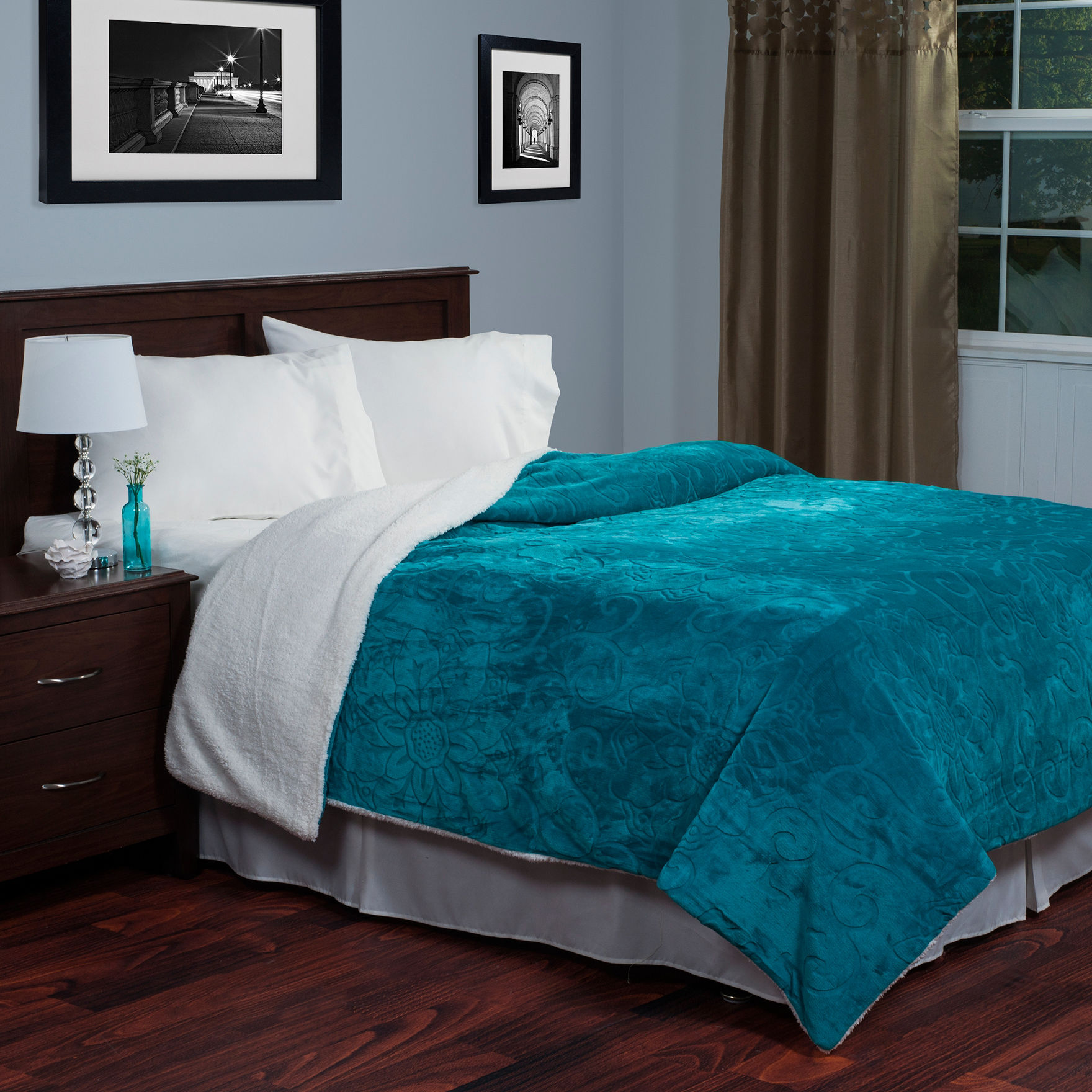 Lavish Home Teal Blankets & Throws